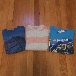 Boys long sleeve shirts size M